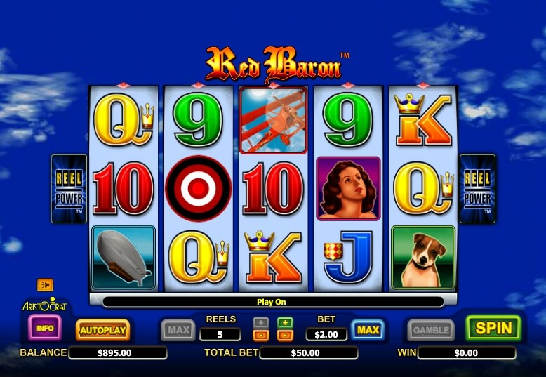 Introduction to Red Baron Slot Game by Aristocrat