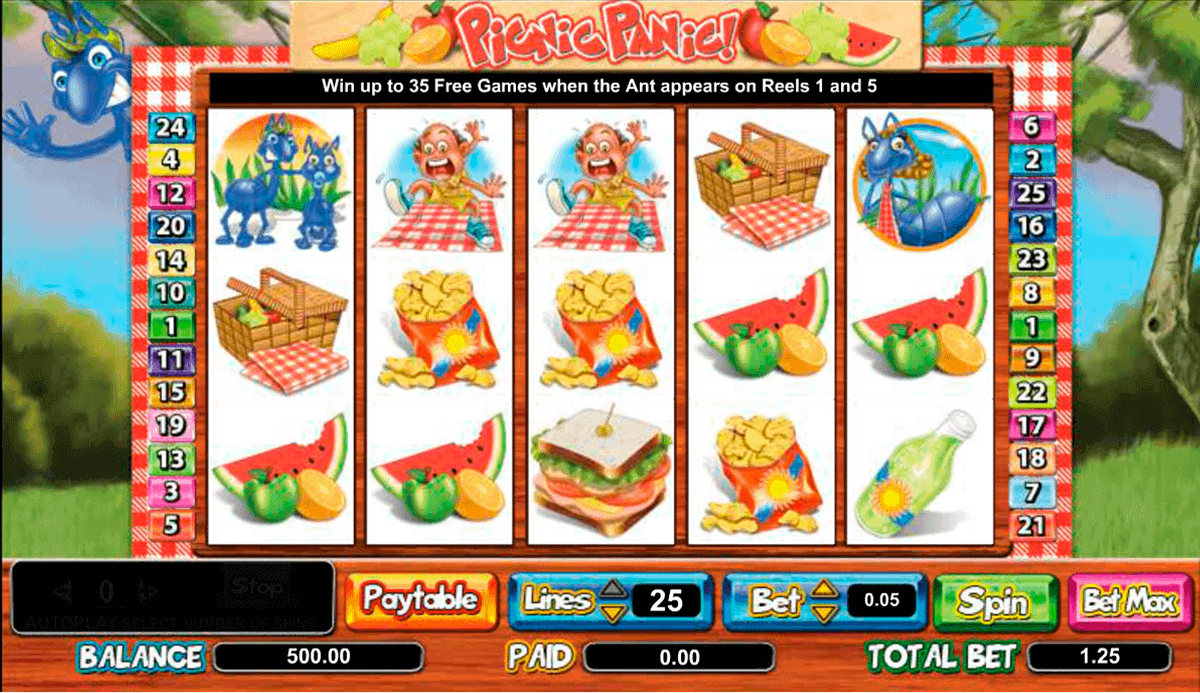 Amaya Gaming Picnic Panic Online Slot Overview