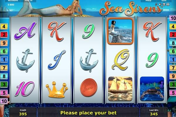 Sea Sirens Slot Reviewed Online for Players