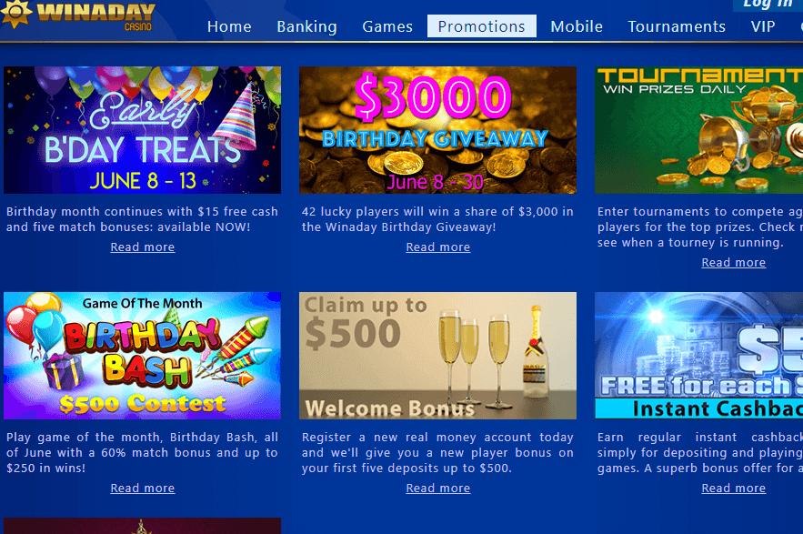 Win A Day Casino Details for Online Players