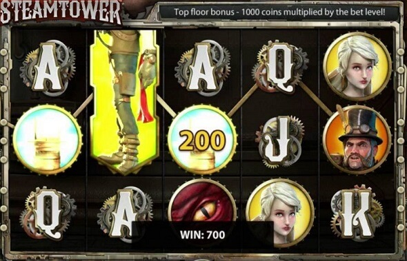 Symbols and Other Features of Steam Tower Online Slot in Detail